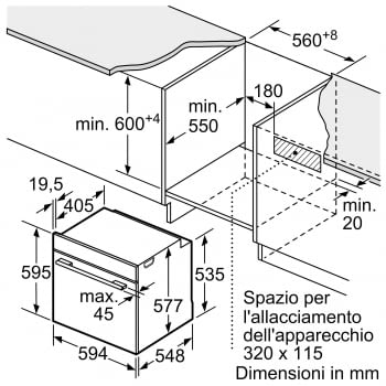 BOSCH HRG6769S6 Horno Multifunción 60cm| Pirolítico con Vapor | Wifi Home Connect | Acero Inoxidable Antihuellas | Clase A - 8