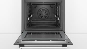 Horno Multifunción Pirolítico Bosch HRG5785S6 a Vapor 60cm | Wifi Home Connect | Inoxidable con Cristal Negro | Clase A - 5