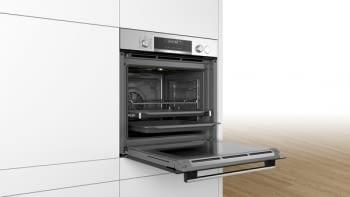Horno Multifunción Pirolítico Bosch HRG5785S6 a Vapor 60cm | Wifi Home Connect | Inoxidable con Cristal Negro | Clase A - 6