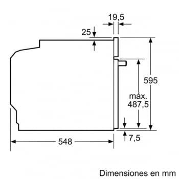 Horno Multifunción BOSCH HRA5380S1 con Vapor Añadido 60cm | Inoxidable con Cristal Negro | +30 recetas y 9 programas |Clase A - 7