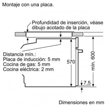 Horno Multifunción BOSCH HRA5380S1 con Vapor Añadido 60cm | Inoxidable con Cristal Negro | +30 recetas y 9 programas |Clase A - 9