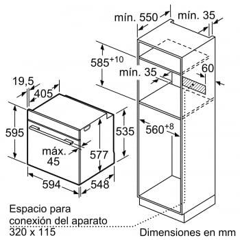 BOSCH HBG675BS1 Horno Multifunción Pirolítico de 60 cm en Acero Inoxidable A+   Stock - 6