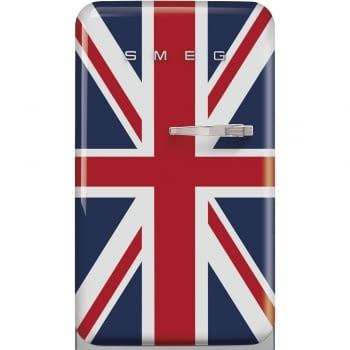 Frigorífico Mini Retro Diseño Bandera UK Smeg FAB10LDUJ5 | 55cm | Apertura a la Izquierda | Clase D | Envío + Instalación + Retirada Gratis