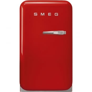 Frigorífico Minibar Retro Rojo Smeg FAB5LRD5 | 40 cm | Apertura Izquierda | Envío + Instalación + Retirada Gratis