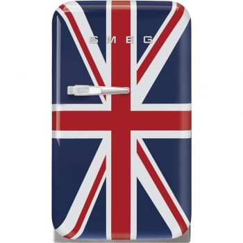 Frigorífico Minibar Retro con Bandera Reino Unido Smeg FAB5RDUJ5 | 40 cm | Apertura Derecha | Envío + Instalación + Retirada Gratis