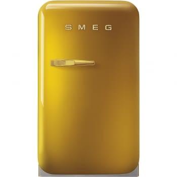 Smeg FAB5RDGO3 Frigorífico Minibar de 40 cm en Color Oro | Apertura Derecha | A+++ | ¡Envío Gratis!