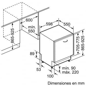 Bosch SBV46NX03E Lavavajillas Integrable de 60 cm | 14 servicios | EcoSilence | A++ - 5