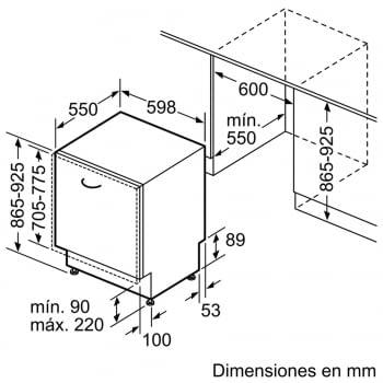 Bosch SBV46NX03E Lavavajillas Integrable de 60 cm | 14 servicios | EcoSilence | A++ - 6