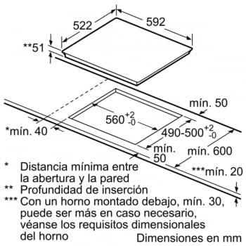 Placa Inducción Balay 3EB960AV █ █ 38x22cm + Inductor Adicional Central Gris Antracita - 7