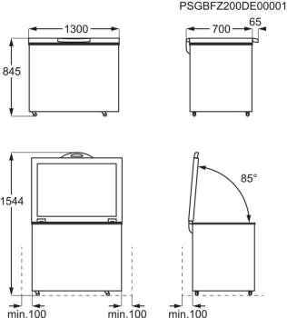 Arcón congelador AEG AHB538E1LW Blanco de 371 l, 130 cm Compresor Inverter A++ | Envío Gratis - 8