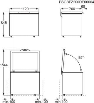 Arcón congelador AEG AHB531E1LW Blanco de 308 l, 112 cm Compresor Inverter A++ | Envío Gratis - 8