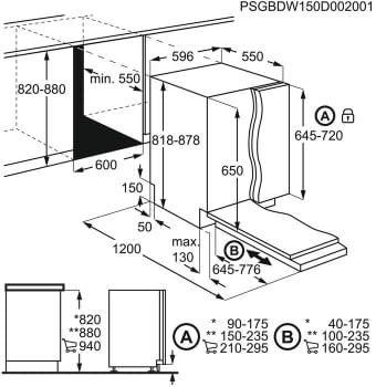 Lavavajillas  Integrable AEG FSB53617Z | 60 cm | 13 servicios | Motor Inverter | Inicio Diferido | Clase D - 15