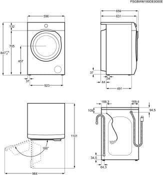 Lavadora AEG L7FBE941 | Serie 7000 Prosense | 9Kg 1400rpm | Inverter | Función Vapor | Clase A/C - 10