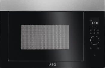 Microondas AEG MBE2657DEM Negro + Inox Integrable de 900 W con Grill de 800 W y 26 litros de capacidad