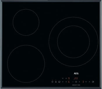 Placa de Inducción AEG IKB6330SFB de 60 cm con 3 zonas (1 doble) de cocción