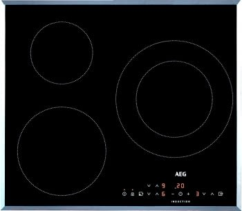 Placa de Inducción AEG IKB6330SFB | 60 cm | 3 Zonas de cocción con PowerBoost con calentamiento rapido