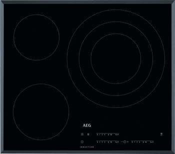 Placa de Inducción AEG IKB63405FB de 60 cm 3 Zonas Max 32 cm Hob2Hood