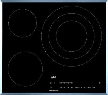 Placa de Inducción AEG IKB63405FB | 60 cm | 3 Zonas de cocción con PowerBoost | Conexión Placa-Campana Hob2Hood