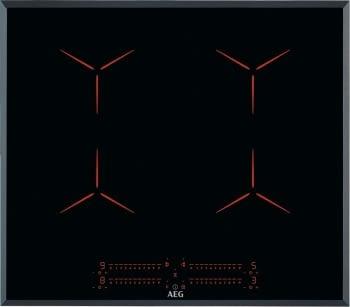Placa de Inducción AEG IPE64551FB de 60 cm con 4 Zonas Función Doble Puente PowerBoost MaxiSense y Hob2Hood