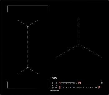 Placa de Inducción AEG IAE63421CB Flexible | 60 cm | 3 Zonas de cocción con PowerBoost | Conexión Placa-Campana Hob2Hood | Stock