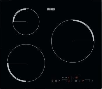 Placa de Inducción Zanussi ZIB6360CB de 60 cm con 3 Zonas Power Max 24 cm Anclaje Easy-fix sin marco