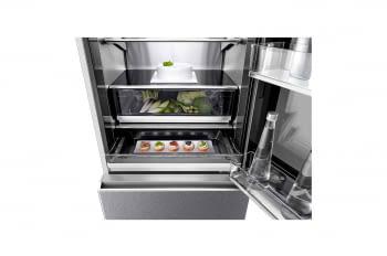 Frigorífico Combi LG LSR200B Inox de 179 cm con 387 L Puerta Instaview con apertura automática No-Frost WiFi Clase E