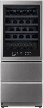 Vinoteca Gourmet LG LSR200W Inox de 179 cm capacidad para 65 botellas Puerta Instaview Conexión WiFi