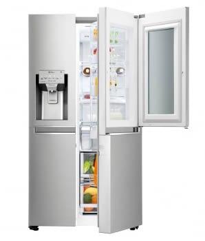 Frigorífico Americano Combi LG GSX961NSVZ Acero Antihuellas de 179 cm No Frost Door-in-Door Instaview con 601 L Dispensador agua y hielo WiFi Clase E - 2