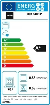 Horno Teka HLB 8400 P Pirolítico en Cristal Gris con Calentamiento rápido | Clase A+ - 9