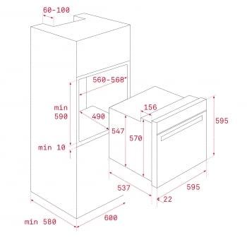 Horno Teka HCB 6535 P Pirolítico inoxidable de 60 cm con 8 funciones de cocinado a 5 alturas Clase A+ - 10