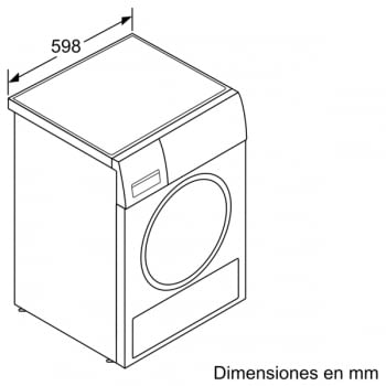Secadora con bomba de Calor Balay 3SB088BP Blanco | 8kg | 5 Programas de secado | Clase A+++ - 7