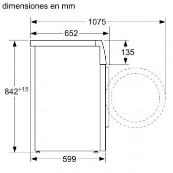 Secadora con bomba de Calor Balay 3SB088BP Blanco | 8kg | 5 Programas de secado | Clase A+++ - 8