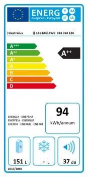 Frigorífico Vertical Electrolux LXB1AE15W0 | 1 puerta | Blanco | 85 x 60 cm | Clase E - 5