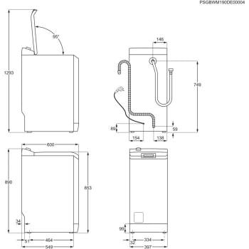 Lavadora Carga Superior Electrolux EW6T4622BF | 6Kg a 1200 rpm | Motor Inverter | Clase E - 8