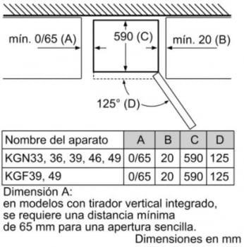 Frigorífico Combi Balay 3KFE765BI de 203x60cm | Cristal Negro | cajón ExtraFresh | Clase E - 8