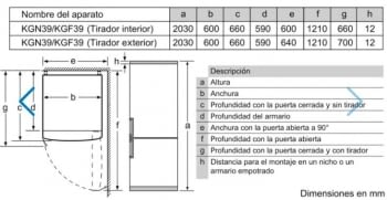 Frigorífico Combi Balay 3KFE765BI de 203x60cm | Cristal Negro | cajón ExtraFresh | Clase E - 9