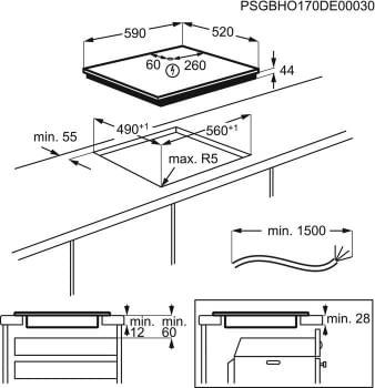 Placa de Inducción AEG IAE6344SFB | 60 cm | 3 Zonas de cocción con PowerBoost | Conexión Placa-Campana Hob2Hood | Sensor de fritura SenseFry | Stock - 6