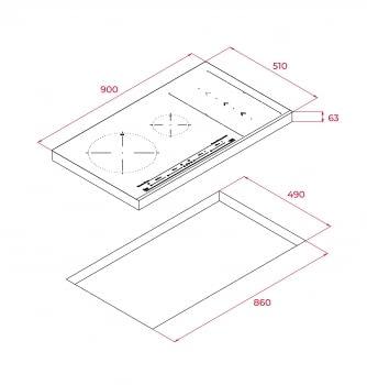 Placa de Inducción Teka IZS 96600 (Ref. 112500004) | 90 cm |  6 zonas de inducción Flex | SlideCooking - 7