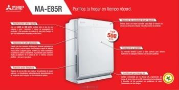 Purificador Aire Mitsubishi MA-E85R | Eficacia +99% en Bacterias | Ultra-rápido | Envío Gratis | Auto-limpieza - 5