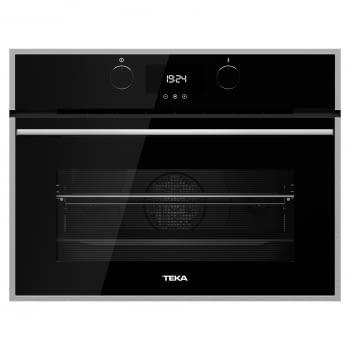 Horno Compacto Teka HLC 847 SC (40589020) Cristal Negro de 45 cm con 15 funciones de cocinado + Vapor a 5 alturas | Limpieza Hydroclean PRO | Clase A+