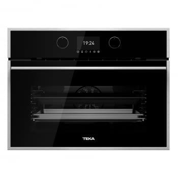 Horno Compacto Teka HLC 847 SC (40589020) Cristal Negro de 45 cm con 15 funciones de cocinado + Vapor a 5 alturas | Limpieza Hydroclean PRO | Clase A+ - 2