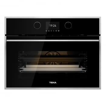 Horno Compacto Teka HLC 847 SC (40589020) Cristal Negro de 45 cm con 15 funciones de cocinado + Vapor a 5 alturas | Limpieza Hydroclean PRO | Clase A+ - 3