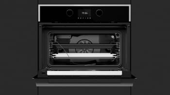 Horno Compacto Teka HLC 847 SC (40589020) Cristal Negro de 45 cm con 15 funciones de cocinado + Vapor a 5 alturas | Limpieza Hydroclean PRO | Clase A+ - 9