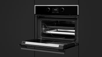 Horno Compacto Teka HLC 847 SC (40589020) Cristal Negro de 45 cm con 15 funciones de cocinado + Vapor a 5 alturas | Limpieza Hydroclean PRO | Clase A+ - 10