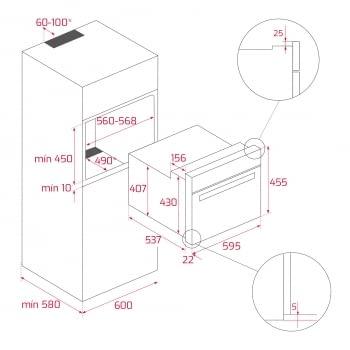 Horno Compacto Teka HLC 847 SC (40589020) Cristal Negro de 45 cm con 15 funciones de cocinado + Vapor a 5 alturas | Limpieza Hydroclean PRO | Clase A+ - 16