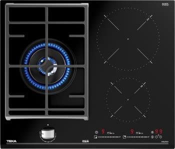 Placa Híbrida Teka JZC 63312 ABN (112570112) de 60 cm con 2 Zonas de inducción y 1 de gas | Control MultiSlider | PowerPlus