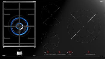 Placa Mixta Inducción  + Gas Teka JZC 94313 ABN (Ref. 112570115) | 90 cm | 3 Zonas de inducción + 1 Zona de Gas Natural | 9 Potencias