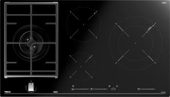 Placa Híbrida Teka JZC 94313 ABN (112570115) de 90 cm con 3 Zonas de inducción y 1 de gas | Control MultiSlider | PowerPlus y STOP & GO