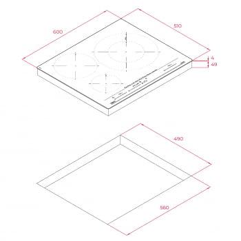 Placa de Inducción Teka IZC 63632 MST (Ref. 112500016) Blanca de 60cm 3 Zonas Paellera 32cm   Control Fritura   Recetas - 11