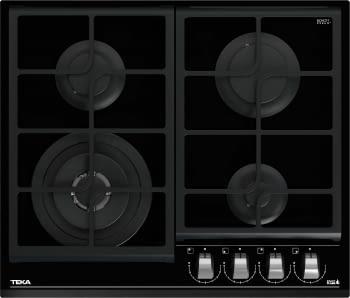 Placa de Gas Teka GZC 64320 (112570038) de 60 cm con 4 Quemadores de Gas Butano con ExactFlame y 9 niveles de potencia